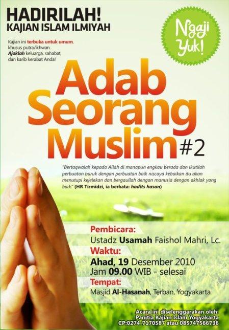 Download MP 3 Kajian Al Ustadz Usamah Faishol Mahri, Lc Adab Seorang Muslim