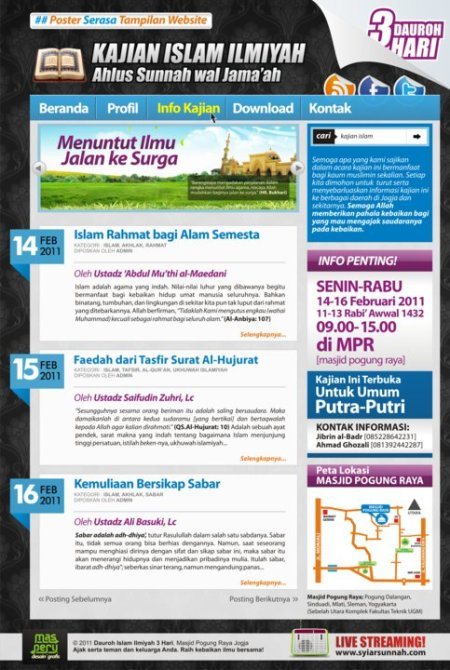 Download Mp3 Dauroh 3 Hari di Masjid Pogung Raya